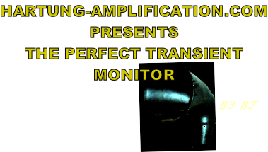 HARTUNG-AMPLIFICATION.COM PRESENTS THE PERFECT TRANSIENT MONITOR                                                    BY BT