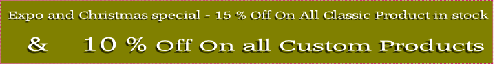 &    10 % Off On all Custom Products